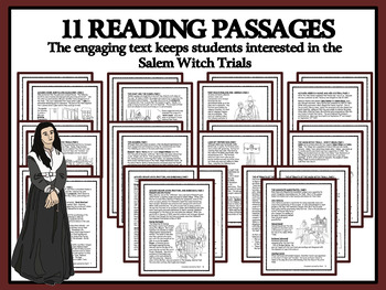 BUNDLE: Reading Comprehension - Salem Witch Trials