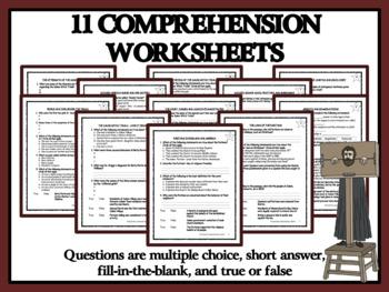 BUNDLE READING COMPREHENSION- SALEM WITCH TRIALS