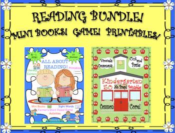 BUNDLE!   READING!    MINI BOOKS!   GAME!    PRINTABLES!   K - 1