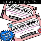 SET1 BUNDLE READING READY 3rd Grade Task Cards – Main Idea & Supporting Details