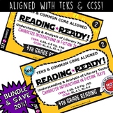 BUNDLE ~ READING READY 4th Grade – Character Interactions in Fiction Texts
