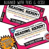 BUNDLE ~ READING READY 4th Grade Task Cards – Explicit & Implicit Relationships
