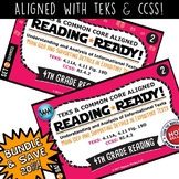 BUNDLE ~ READING READY 4th Grade Task Cards – Main Idea &