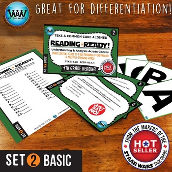 BUNDLE ~ READING READY 4th Grade Task Cards – Using Context Clues {TEKS-aligned}