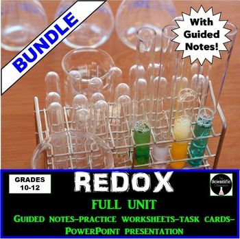 BUNDLE: REDOX (Oxidation and Reduction) FULL UNIT