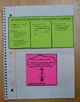 BUNDLE-REDOX (Oxidation and Reduction) FULL UNIT with Interactive Notebook