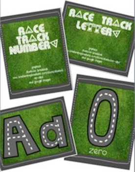 BUNDLE - Race Trace Letters & Numbers