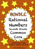 BUNDLE Rational Numbers Math Stations for Common Core Seve