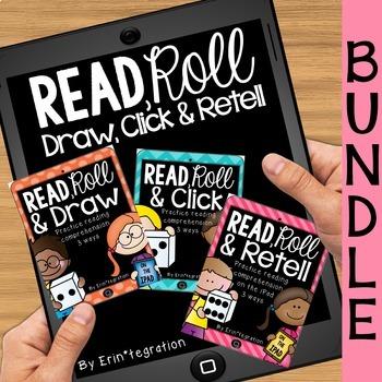 iPad QR Reading Response Dice Game Centers:  Read & Roll BUNDLE
