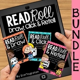 iPad QR Reading Response Dice Game Centers:  Read & Roll BUNDLE