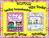 BUNDLE! Reading Comprehension Passages! Draw! Color!  Farmer's Game! Mini Books!