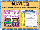 BUNDLE! Reading Comprehension Passages and Questions! Grade 1