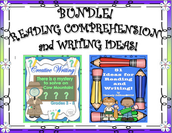BUNDLE! Back to School Reading Comprehension and Writing Ideas!