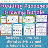 BUNDLE Reading Passages for Special Education in Multi Lev