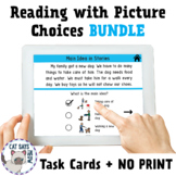 Reading with Picture Choices: BUNDLE! + No Print (Distance