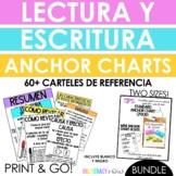 BUNDLE Spanish Reading & Writing Anchor Charts! 41 Anchor Charts! Print & Go!