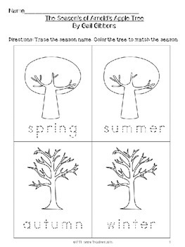 BUNDLE: Reading and Writing Units for The Seasons of Arnold's Apple Tree