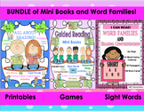 BUNDLE Reading comprehension passages and questions! Mini Books Word Families