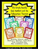 BUNDLE Real #'s & Pythagorean Theorem Math Stations for Common Core Eighth Grade