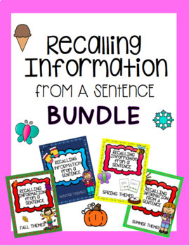 BUNDLE Recalling Information from a Sentence