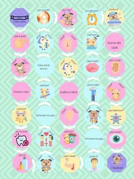 BUNDLE Reflexive verbs and objects, health:  doler, estar vs tener, body parts