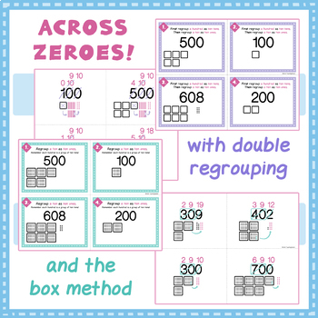 BUNDLE - Regrouping for Subtraction Task Card Visual Models