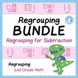 BUNDLE - Regrouping for Subtraction Task Card Visual Models