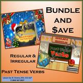 BUNDLE - Regular and Irregular Past Tense Verbs NO PREP Unit Teletherapy