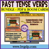 BUNDLE Regular and Irregular Past Tense Verbs with BOOM CARDS - Teletherapy