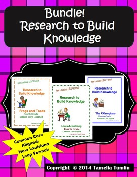 BUNDLE!!! Research to Build Knowledge Packets (All THREE in one Bundle)