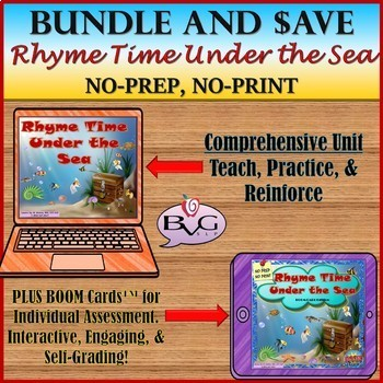 BUNDLE Rhyme Time Under the Sea Complete Unit with BOOM CARDS