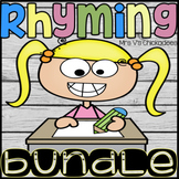 BUNDLE: Rhyming Words Worksheets & Hands On Centers