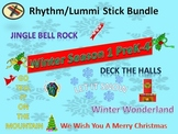 BUNDLE: Rhythm/Lummi Stick Activities: Winter Season 1 PreK-4