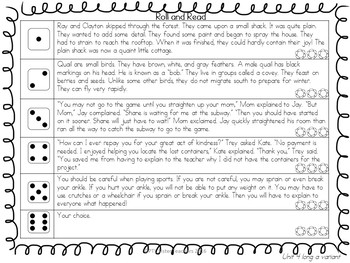 BUNDLE Roll and Read Long Vowel Digraphs (Multisyllabic)  Interventions