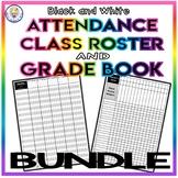 BUNDLE! Roster Attendance Sheet and Grade Book Templates - EDITABLE!