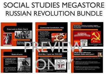 Russian Revolution Lenin Stalin Rasputin Reading Writing Activity Bundle