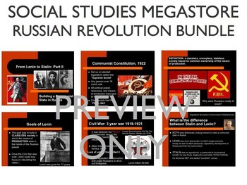Russian Revolution Lenin Stalin Rasputin Reading Writing Activity Bundle