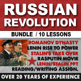 Russian Revolution Lenin Stalin Rasputin Reading Writing A