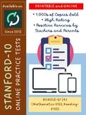 (DISTANCE LEARNING) SAT-10 for Grade 1 (BUNDLE: Math and Reading-V1 and V2)