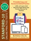 (DISTANCE LEARNING) SAT-10 for KG (BUNDLE: Math and Reading-Versions 1 and 2)