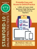 (DISTANCE LEARNING) SAT-10 for KG (BUNDLE: Math and Reading-Version 1 Only)