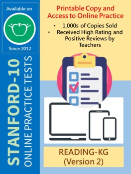 BUNDLE: Test/Assessment Resources for KG (Reading-Versions 1 and 2)