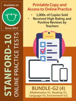 BUNDLE: SAT-10 Practice Tests for Second Grade (Complete-All 4 Items)