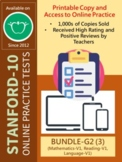 BUNDLE: SAT-10 Practice Tests for Second Grade (Math, Read