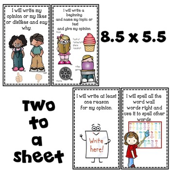 Goal Setting for First Grade Opinion Writers! BUNDLE & SAVE