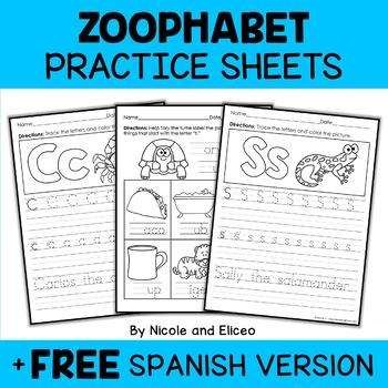 Zoo Alphabet Activity Bundle
