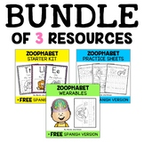 Zoo Alphabet Activity Bundle