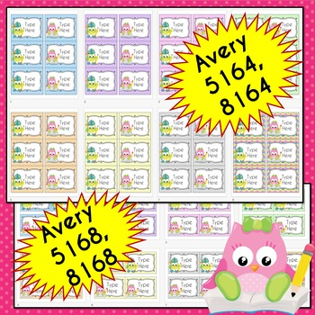 BUNDLE SCHOOL OWL Labels (Editable)