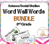 BUNDLE - SCIENCE AND SOCIAL STUDIES WORD WALL | FULL YEAR | THIRD GRADE