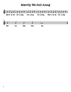 Easy Printables! 4 Recorder Songs using BAG